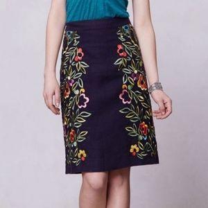 Anthro Moulinette Soeurs Clematis Linen Skirt